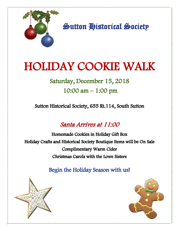 Sutton Historical Society Cookie Walk @ Sutton Historical Society - 655 Route 114 S Sutton | Weare | New Hampshire | United States
