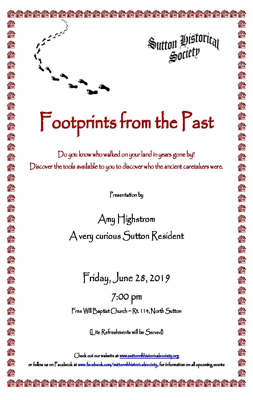 Historical Society -- Footprints from the Past @ Free Will Baptist Church | Sutton | New Hampshire | United States