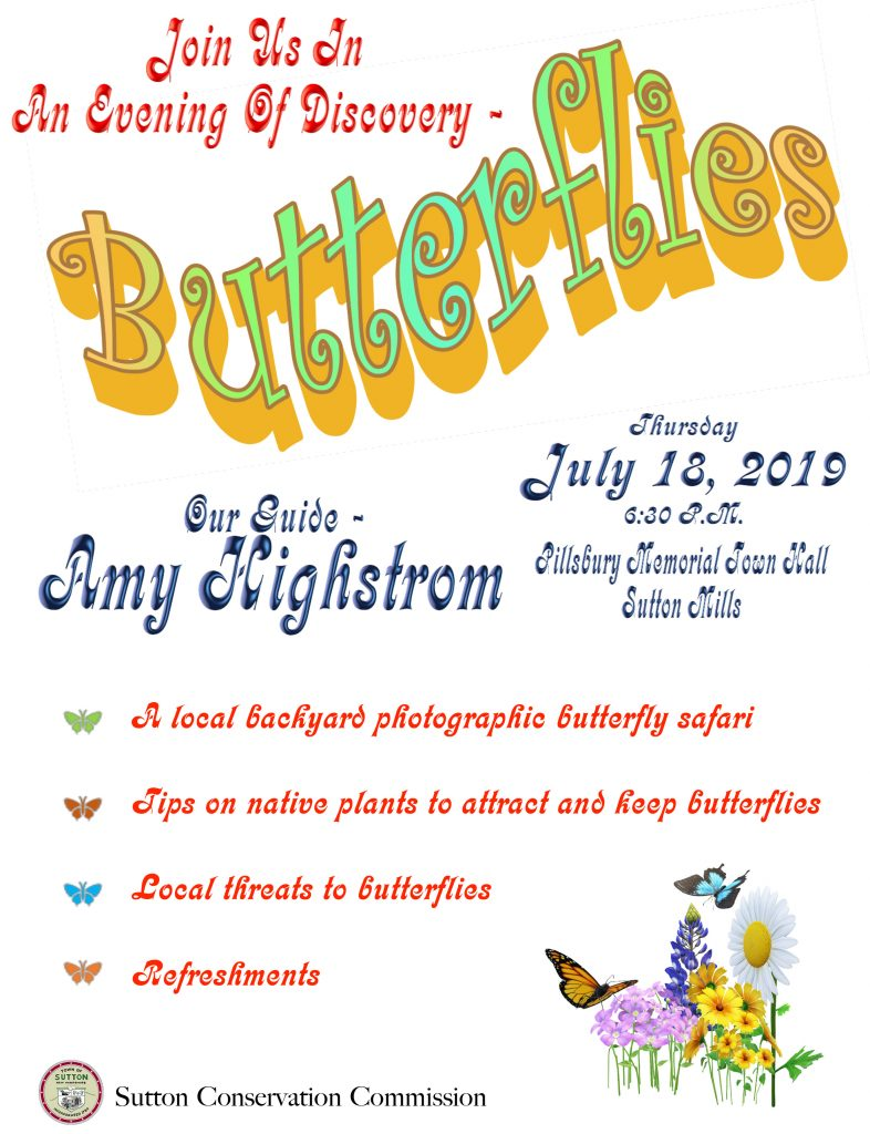 Butterfly Presentation 7/18/2019 @ Pillsbury Memorial Hall | Bradford | New Hampshire | United States