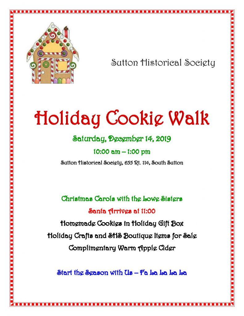 Annual Cookie Walk - Sutton Historical Society @ Sutton Historical Society | Warner | New Hampshire | United States