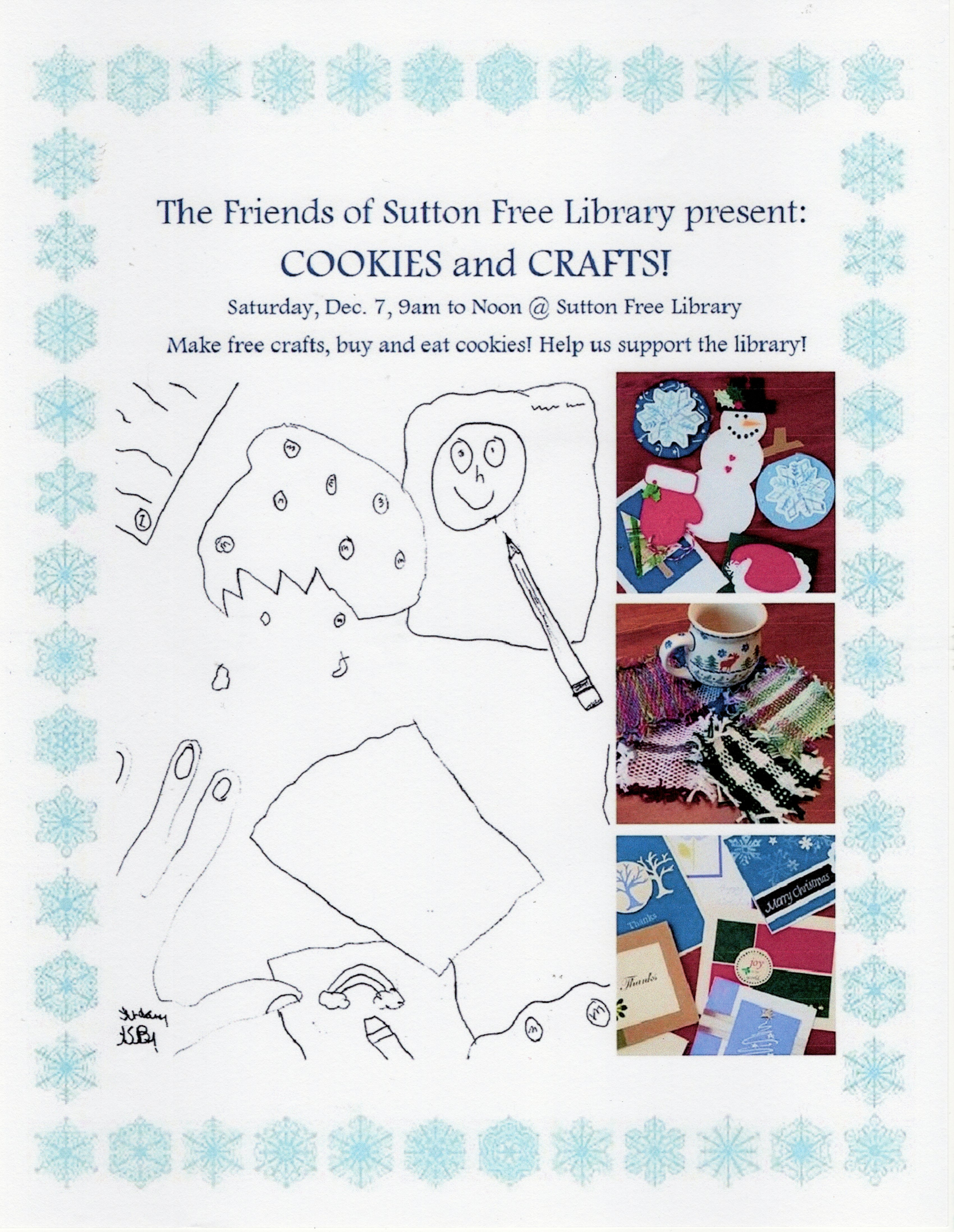 Friends of Sutton Free Library Cookies & Crafts @ sutton free library   Bradford   New Hampshire   United States