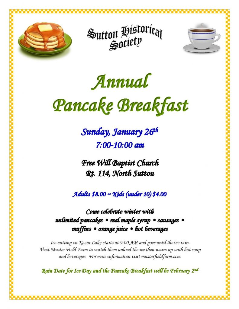 Annual Pancake Breakfast @ Free Will Baptist Church | Sutton | New Hampshire | United States